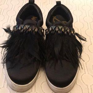 Sam Edelman Platform Feather Sneakers